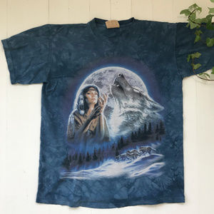 Vintage Native wolf Moon Shirt